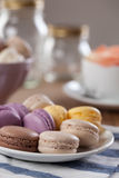 French Macarons Stock Photos