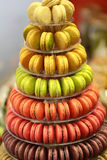 French macarons on cake stand Stock Photos