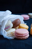 French macarons in paper cone Royalty Free Stock Photography