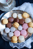 French macarons on plate Stock Photo