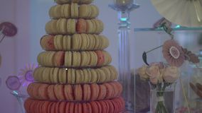 French Macarons stock video footage