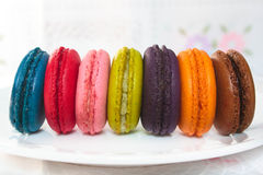 French macarons. Royalty Free Stock Images
