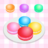 French macarons vector Stock Image