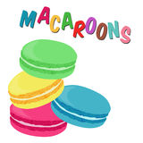 French macaroon cookies Royalty Free Stock Image