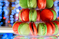 French macaroons.Candy bar.Wedding feast.  sweets Stock Images