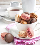 French macaroons. Royalty Free Stock Image