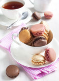 French macaroons. Royalty Free Stock Photos
