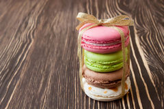French macaroons .Dessert Royalty Free Stock Images