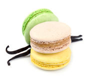 French macaroons .Dessert Stock Images