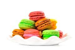 French macaroons .Dessert Stock Photos