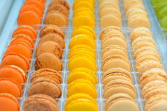 French macaroons. French different macaroons in set stock images