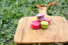 French macaroons multi colorful is delicious Royalty Free Stock Photography