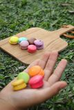 French macaroons multi colorful is delicious Royalty Free Stock Photo