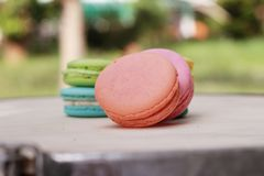 French macaroons multi colorful is delicious Stock Photography