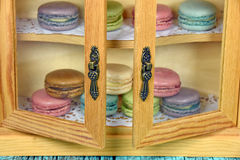French macaroons in pantry Stock Image