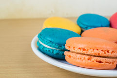 French macaroons on plate Royalty Free Stock Image
