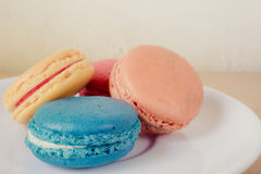 French macaroons on plate Stock Image