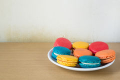 French macaroons on plate Royalty Free Stock Photography