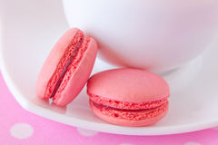 French macaroons with raspberry filling Royalty Free Stock Image