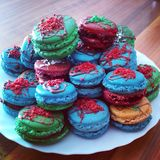 French macaroons. Self made royalty free stock photography