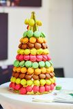 French macaroons on wedding reception Royalty Free Stock Images