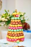 French macaroons on wedding reception Stock Image