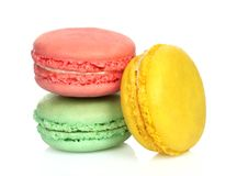 French macaroons on white background Stock Photography