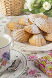 French madeleines. At tea time Royalty Free Stock Image