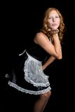 French Maid Blowing Kiss Royalty Free Stock Image