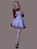 French Maid, 3D CG Royalty Free Stock Photography