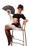 French maid with fan Stock Images