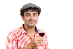 French Man And Wine Royalty Free Stock Images