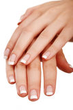 French manicure Royalty Free Stock Photo
