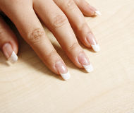 French manicure Royalty Free Stock Photos