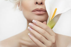 Free French Manicure. Stock Image - 54273321