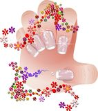 French manicure banners set Royalty Free Stock Images
