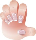 French manicure banners set Royalty Free Stock Image