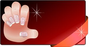 French manicure banners set Stock Photos