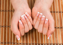 French manicure Stock Photos