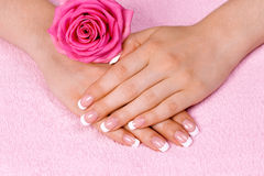 French manicure Royalty Free Stock Images