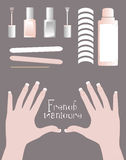 French manicure kit Stock Photos