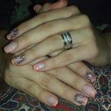 french manicure nail Στοκ φωτογραφία με δικαίωμα ελεύθερης χρήσης