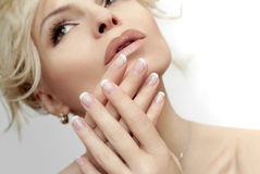 French manicure. Stock Photos
