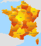 French map Royalty Free Stock Image