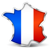 French map icon Stock Photography