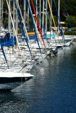 French marina. In provence (france) with a lots of sailing ships moored Royalty Free Stock Images