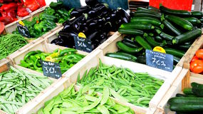 French market. Fresh vegetables for french market place Royalty Free Stock Photography