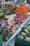 French Market Onions garlic carrots Royalty Free Stock Photography