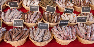 French market stall Royalty Free Stock Photos