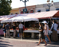 French market stall in Nice. On the French riviera Royalty Free Stock Images